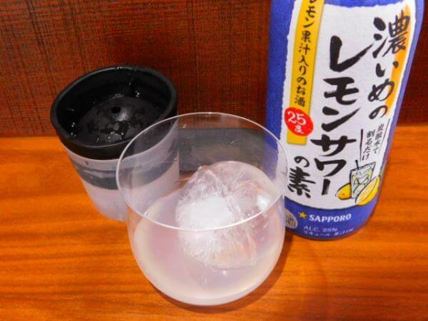 の 濃い 素 サワー レモン